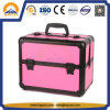 Medium Pink Cosmetic Travel Case with Plastic Handle (HB-3181)