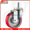 5 Inch Medium Duty Swivel PU on Steel Caster with Stem
