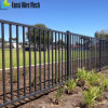 Black Powder Coted Curved Top Steel Fence for Security