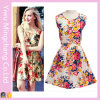 Wholesale Youth Cheap Summer Sleeveless Print Floral Sweet Dress