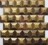3D Effect Brass Made Decoration Mosaic for Wall (CFM1089)
