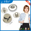 Nickel Color Custom Metal Snap Buttons Custom Logo