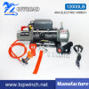 SUV 4X4 off-Road Winch Tractor Winch Synthetic Rope Winch (12000lbs-1)