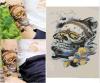 Colorful Skull Waterproof Temporary Tattoo Stickers Body Art Sticker