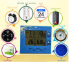 LCD Digital Temperature Humidity Meter Hygrometer and Clock with Alarm Function