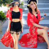 Fashion Chiffon Inregular Sleeveless Pleated Length Skirt of Girl