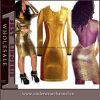 Sexy Fashion Leather Cocktail Evening Party Bandage Prom Dress (TP788)