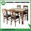 Oak Wood Dining Furniture Wood Table and PU Seat Chair