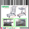 Nesting Platform Folding Warehouse Cargo Trolley Cart 2 Tiers