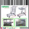 Nesting Platform Folding Warehouse Cargo Trolley Cart 2 Tiers
