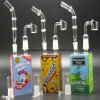 Glass Water Pipe Juice Bongs 14mm for Glass Smoking Pipe