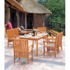 Patio Leisure Dining Solid Wood Garden Outdoor Furniture (JJ-LT01)