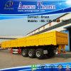 3axle 40FT 60ton Flatbed with Side Wall, Open Side Board Cargo Semi Trailer, Sidewall Semi Trailer, Wall Side Semi Trailer, Side Wall Open Semi Trailer for Sale