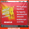 5m Seamless Frontlit PVC Flex Banner