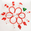 Fashionable Red and White Plush Headband Deer-Antlers