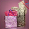 Exotic Fibrous Metallic Euro Totes Paper Bags for Shopping