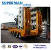 80t Excavator Use Utility Superlink Drawbar Lowbed/ Lowdeck Semi Truck Trailer