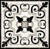 New Design White and Black Marble Floor Pattern Waterjet Tile