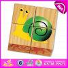 Hot Sale Animal Shape 4PCS Wooden Jigsaw 3D Puzzles for Children in Bulk W14f042