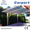 PU Coated Aluminium Frame Car Parking Carport with Polycarbonate Roof