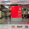 Customized Indoor P6 Full Color Cylinder/Round LED Display with Curved Panel