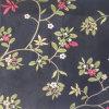 Silk Polyester Blend Embroidery Flower Decoration Fabrics
