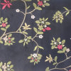 Silk Polyester Blend Embroidery Flower Decoration Fabrics