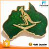 Australian Kangaroo Australia Map Lapel Pin Badge