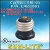E26 to 1-15r Lampholder, Lampholder Adapter; Ebi-01