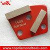 Double Segment Diamond Grinding Pad / Concrete Polishing