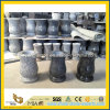 Natural Chinese Granite Stone Flower Vase for Cemetery