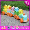 2015 Hot Sale Wooden Blocks Train Set Toys Animal Vehicles Toys, Cute Wooden Animal Blocks Train Toy, Pull Line Train Toy W04A066