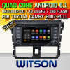 Witson Android 5.1 Car DVD GPS for Toyota Yaris 2014 with Chipset 1080P 16g ROM WiFi 3G Internet DVR Support (A5752)