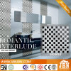 Black and White Checkerboard Glass Mosaic (G423010)