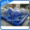 Blue Square Water Pool for Water Ball Games, Inflatable Pool with Water Balls