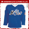 China Wholesale Embroidered Blue Custom Made Hockey Jersey