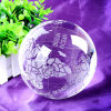 Crystal Globe with Word Map Glass Crystal Tellurion