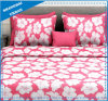 Red Floral Design Polyester Duvet Cover Bedding Set