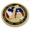 Customized Rope Edge Gold Plated Military Challenge Coin