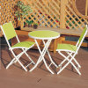 3 Pieces Steel Frame Folding Table and Chair Sets (JTJ1025)