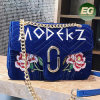2017 New Design Flowers Decorated Handbag Ladies Hand Bag Woman Shopping Bag Leisure Style Bag with Wholesale Price Sy8672