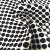 Black and White Orientation Jacquard Fabric