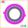 6+3W Surface Mounted Double Color Round LED Panel Lights