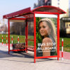 Solar Metal Support Advertising Bus Stop Shelter