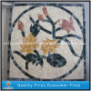 Natural Stone Marble Mosaic Flower Pattern / Mosaic Pattern Flooring Tiles