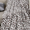 Leopard Printed Coral Fleece Queen Size Blanket