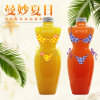 Plastic Pet Clear Water Juice Beverage Bottle 400ml The Shape of a Human Being