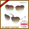 Polarized Metal Heart Shaped Sunglasses Fx3154-0