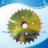 OEM ISO Standard Yellow Zinc Large Roller Chain Sprocket with Internal Spline
