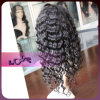 6A Top Quality Human Hair Curly Full Lace Wig